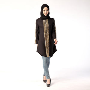 Autumn Plus Size Long Women Tops Muslim Abaya Islamic Clothing Turkish Arabic Worship Eid Mubarak Traditional Costumes
