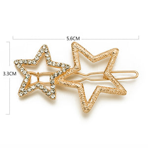 Chic Pentagram Shapes Hair Clips Hair Buckle Hairpin Hairgrip Headdress Wonderful Gifts Summer Dress Collocation A1