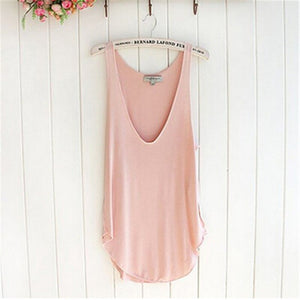 Summer Fashion Summer Woman Lady Sleeveless VNeck Candy Vest Loose Tank Tops TShirt A2#
