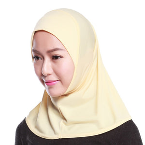 Cotton Muslim Headscarf Inner Hijab Islamic Ladies Satin Neck Head Hat Dubai Hijab