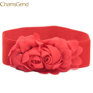 Pingfashion Women'S Lady Vintage Accessories Casual Leisure Flower Lace Elasticated Belt A1