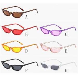 Women Vintage Cat Eye Sunglasses Retro Small Frame Uv400 Fashion Ladies Popualr Travel Accessories A1
