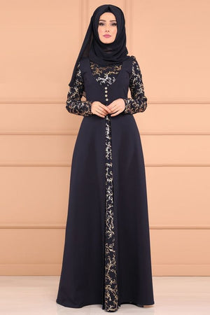 Elegent Fashion Style Muslim Women Plus Size Long Abaya S5Xl