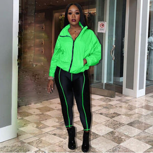 2020 Casual 2 Piece Set Women Tracksuit Sportswear Sweatshirt Crop Top Pants Set Leisure Sweat Suit Women Two Piece Outfits
