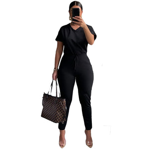 2020 Women Sets Summer Tracksuits Fitness Short Sleeve V-Neck Tops+Pants Suit Two Piece Set Sporty Outfits 2 Pcs Street GL1802
