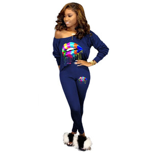 2020 Women Tracksuit 2 Piece Set Women Crop Top Pants Sweatshirt Set Sweat Suits Lounge Wear Casual Two Piece Matching Sets