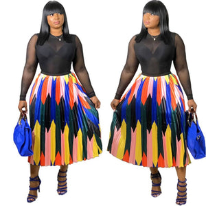 22 BestSelling Uniquely Styled Printed Pleated Skirts With Pleated Skirts Satin Making Casual Summer