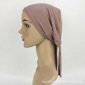 30 Colors Full Cover Inner Muslim Cotton Hijab Cap Islamic Head Wear Hat Underscarf Bone Bonnet Turkish Scarves Muslim Headcover