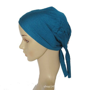 45 Colors Full Cover Inner Muslim Cotton Hijab Cap Islamic Head Wear Hat Underscarf Bone Bonnet Turkish Scarves Muslim Headcover