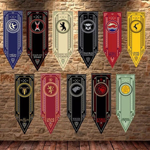 45X150Cm Game Of Thrones Banner Flag Stark Tully Targaryen Lannister Baratheon Martell Bolton Flag Decoration