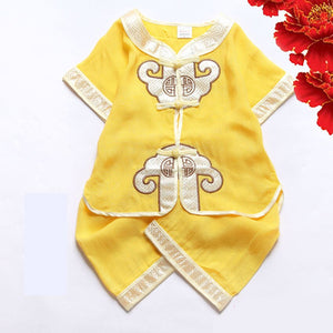 70120Cm Newborn Baby Boys Birthday Party Wear Clothing Set Chinese Traditional Costumes Tang Suit Hanfu Kids Clothes