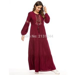 Abaya Qatar Uae Turkish Islamic Malaysia Ruffle Pleated Muslim Hijab Dress Abayas Robe Musulmane Kaftan Dubai Clothing