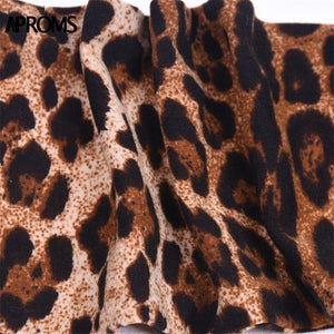 Backless Tie Up Camis Cool Deep V Leopard Print Crop Top Women Vintage Tank Top Streetwear Bralette Tee