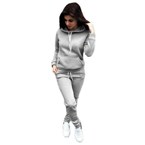 Autumn Casual 2 Pieces Suit Women Hoodies Tops Tracksuit Sweat Suit Women's Set