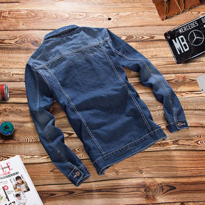 Autumn Stretch Light Blue Denim Jacket Men Fashion Slim Fit Korean Style Denim Coat Men'S Vintage Jeans Jacket 041301