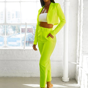 Autumn Women Two Piece Set Women Suits Long Sleeve Blazer Top Pants Set Slim Jacket Suits Outfits