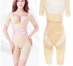 Body Shaping Full Cover Bodysuit Seamless Slimming Shapewear Long Sleeve Stretchy Shaper Women Bellies Modeling S2Xl