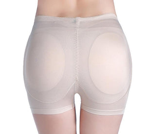 Women 4Pcs Pads Enhancers Fake Ass Hip Butt Lifter Shapers Control Panties Removable Padded Slimming Underwear