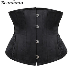 Steampunk 14 Steel Bones Waist Trainer Corset Vintage Women Plus Size Clothing Gothic Style Black Top Underbust Gorset