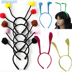 Black Red Pink Yellow Adult Children Cosplay Animal Ant Antennae Fly Ladybug Headband Bug Bee Hairband Party Favors Kids