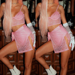 Fashion Women Crop Vest V Neck Top Shorts Skirts Set Summer Mini Jumpsuit Casual Party Clubwear Outfits