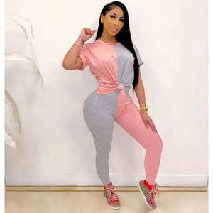 Casual Two Piece Set Top Pants Women Tracksuit Summer Matching Sets Sweat Suits Lounge Wear Joggers Women Set 2020