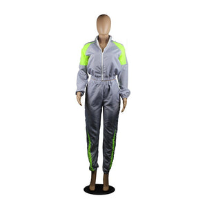 Casual Two Piece Set Tracksuit Women Sportwear Zipper Jacket Tops Full Length Pants Sweat Suits Women Two Piece Outfits 2020