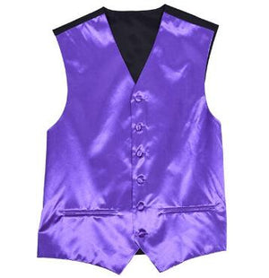 Champagne Royal Blue Male Satin Waistcoat Wedding Groom Suit Vest Men Purple Pink Burgundy Red Green Gold White
