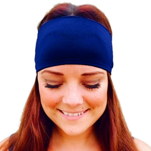 Chamsgend Ladies Sports Yoga Sweatband Solid Black Gym Stretch Headband Hair Band Bandanas Ring Elastic Hair Bands A1