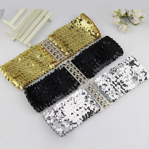 Women Fashion Waistband Dress Accessories Vintage Manual Sequins Belt Straps Casual Slim Waist A1