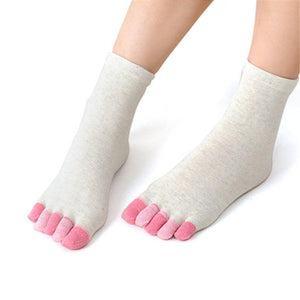 Women'S 5 Toe Socks Fashion Lady Five Fingers Trainer Toe Cotton Socks A1