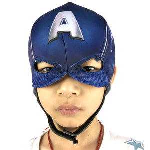 Children Adult Captain America Masks Latex Cloth Movie Cosplay Costume Props Halloween Superhero Latex Head Mask