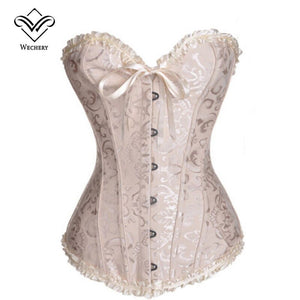 Corset Corselet Corselete Women'S Corsets Plus Size Overbust Corsage White Bodice Straitjacket Top Bustier S6Xl