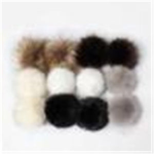 Diy 12Pcs Unisex Women Men Faux Raccoon Fake Fur Hair Ball Fluffy Pompom Hat Clothing Bag Shoes Cap Accessories #1120 A#487