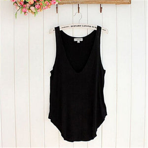 Durable Fashion Summer Woman Lady Sleeveless VNeck Candy Vest Loose Tank Tops TShirt A2#