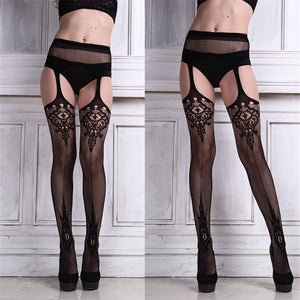 Durable Stocking Lingerie Net Lace Top Garter Belt Thigh Stocking Pantyhose