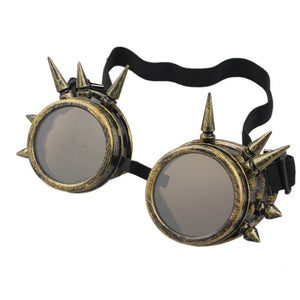 Durable Sunglasses Women Men Rivet Steampunk Goggle Glasse Windproof Oculos Mirror Vintage Gothic Glasses A6#7