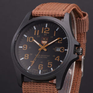 Durable Mens Date Stainless Steel Military Analog Army Wrist Shirt A2#