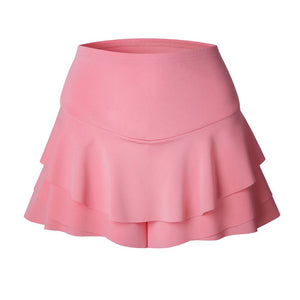 Durable Short Women Polyester Casual Bodycon Ruffles Shorts Skirt Pack Hip Shorts #180223 B15 A#487