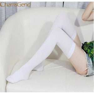 Durable Women Fashion Over Knee High Temptation Stretch Nylon Stockings 1215