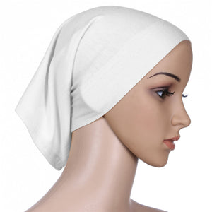 Fashion Bonnet Islamic Muslim Cover Head Scarf Headwrap Underscarf Hijab Cotton Women
