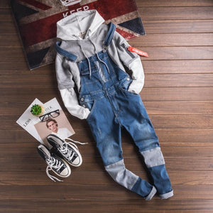 Fashion Japan Style Mens Army Green Jumpsuit Pants Man Slim Fit Skinny Bib Overalls Pants Casual Summer Trousers Men 092502