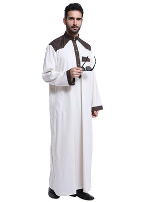 Fashion Muslim Clothing Men Mens Kaftan Jubba Thobe White Abaya Arab Clothing Man Islamic Clothing Ropa Arabe Hombre