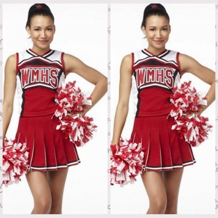 Cheerleader Costume Glee Style Cheerleading Varsity Cheerleader Cheerios Costume Fancy Dress Uniform High School Glee Club