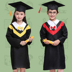 Graduation Jacket Party Bachelor Gown Halloween Party Wear Cosplay Costumes Fancy Graduate Kids Academic Uniform Cap