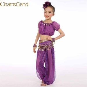 Handmade Children Belly Dance Costumes Kids Belly Dancing Egypt Dance Cloth +1Pc Tops 1Pc Pants A#487