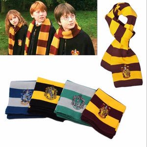 Harri Scarf Potter Anime Scarf Gryffindor Slytherin Hufflepuff Ravenclaw Scarf Cosplay Costume Men Women Boys Scarves