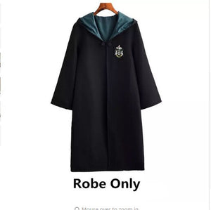 Harris Potter Cosplay Costume College Trench Cloak Tie Hat Wand Glasses Gryffindor Ravenclaw Hufflepuff Slytherin Harris Potter