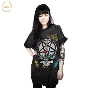 Design Fate Ful Dead Skulls Tshirt Hip Hop 3D T Shirt Women Men Summer Punk Tops Plus Size Loose Tee Shirt