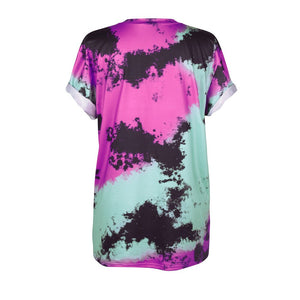 Funny Mushroom Cloud Earth Print 3D T Shirt Women Purple Smoke Hip Hop Tshirt Young Man Streetwear Loose Tops